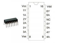 CD4009 DIP TEX.