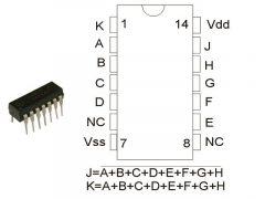 CD4078 DIP  TEX