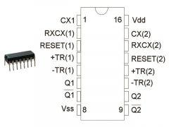 CD4098BE DIP16 TEX.