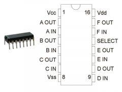 CD4504 DIP ONS.
