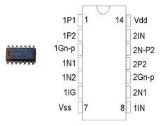 CD4007 SO14 SMD HCF4007UBM
