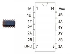 CD4001 SO14 SMD /CD4001BCM/