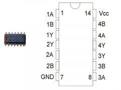 CD4011 SMD. TEX.