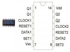 CD4013 SO14 SMD NXP./HEF4013BT/