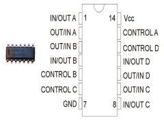 CD4016BM SMD /HEF4016BT/