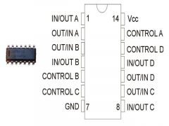 CD4016 SO14 SMD