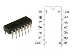 74HC00N DIP14 TEX.