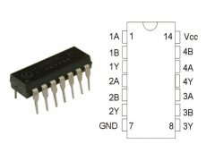 74HC08 DIP14 TEX.