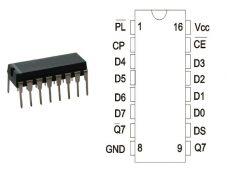 74HC165 DIP TEX.