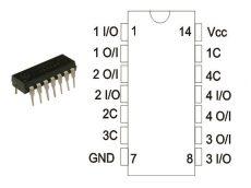 74HC4066B1R DIP STM.