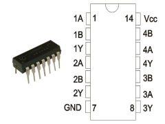 74HCT03N DIP14 NXP.  RoHS