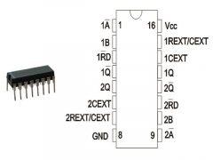 74HCT123 DIP TEX.
