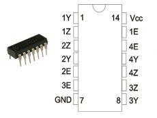 74HCT4066E DIP TEX.