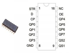 74HCT 4094D NXP. SMD