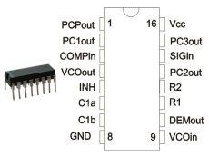 74HCT4046 DIP16 TEX. CD74HCT4046AE