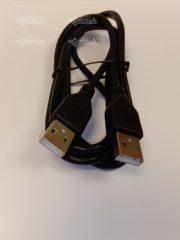 USB KÁBEL ADUGÓ-ADUGÓ 1,5M 2.0 FEKETE